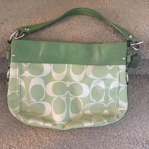 Coach Green Over the Shoulder Purse